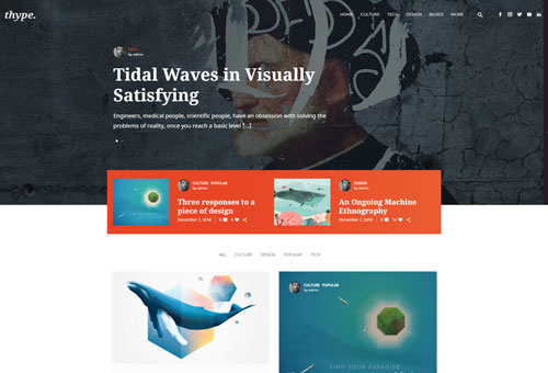 Thype Personal 2 WordPress Theme