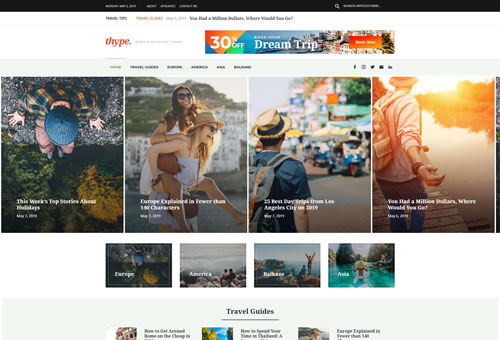 Thype Travel WordPress Theme