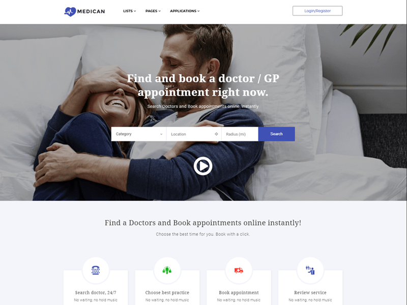 Appointment Booking Marketplace Directory WordPress Theme Medican 15 Best Appointment WordPress Themes