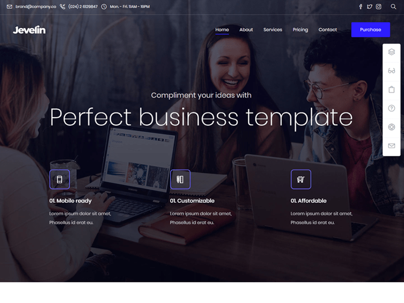 Jevelin Business WordPress Theme