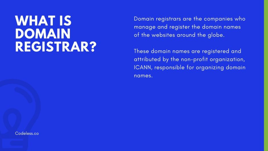 What is domain registrar