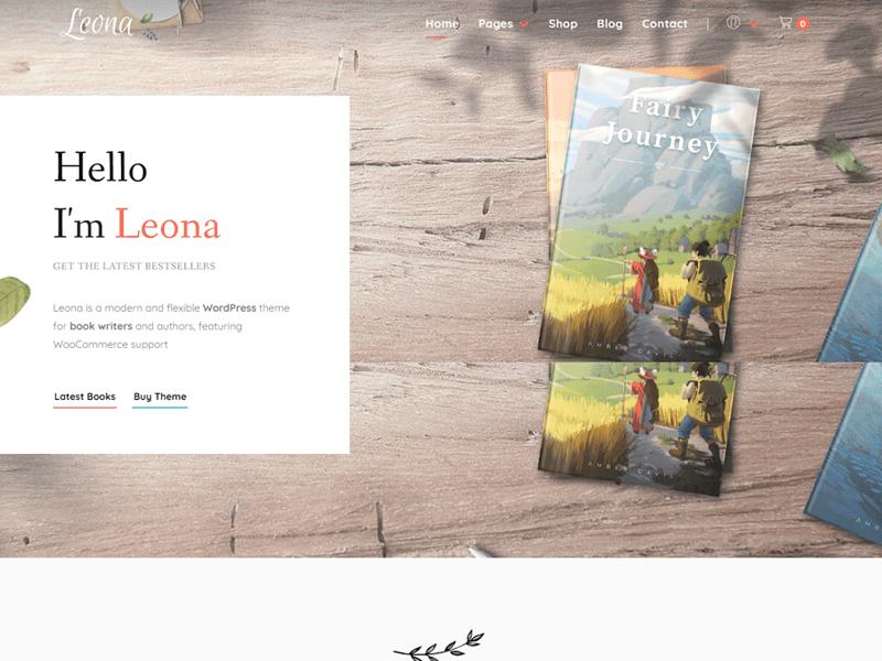 Leona: WordPress themes for writers