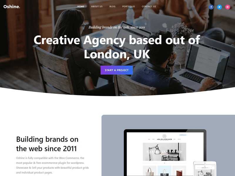 Oshine WordPress Small Business Theme