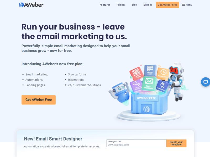 aweber - email marketing platform