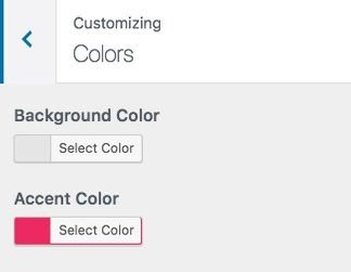 customizer colors