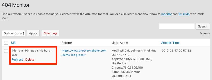 404 monitor rank math
