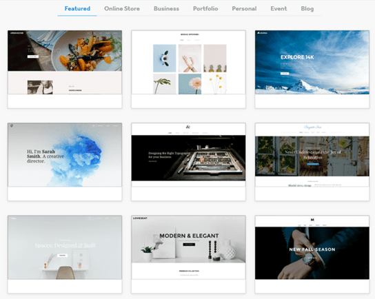 weebly photography templates