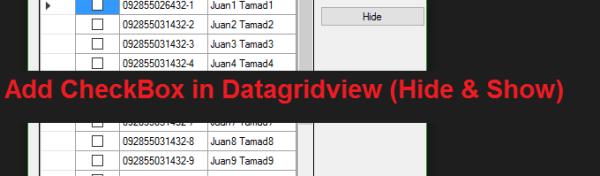 Add Checkbox in Datagridview C#