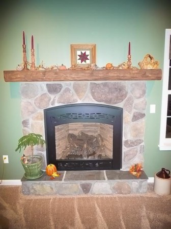 Riverstone fireplace