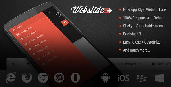 Web Slide - Responsive Mega Menu for Bootstrap 3+