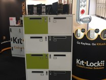 Lockable filing cabinets on our display stand at interzum