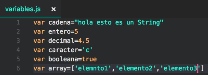 variables js