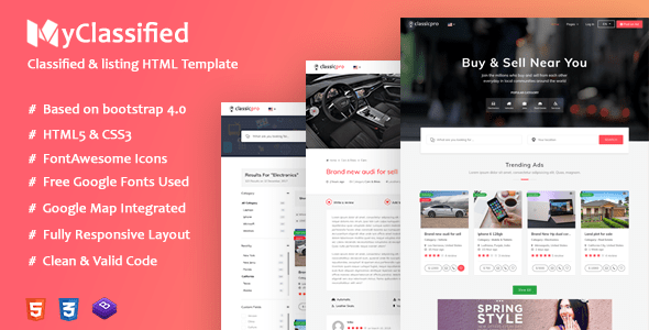 Classified Ads Html Website Templates My Classified