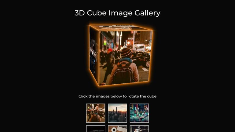 3D Cube Image Gallery