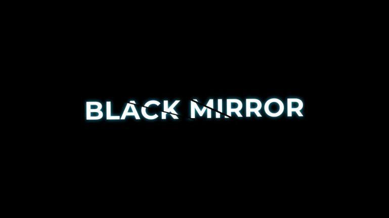 Black Mirror Cracked Text Effect