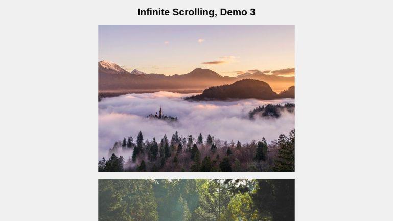 Infinite Scrolling through Images