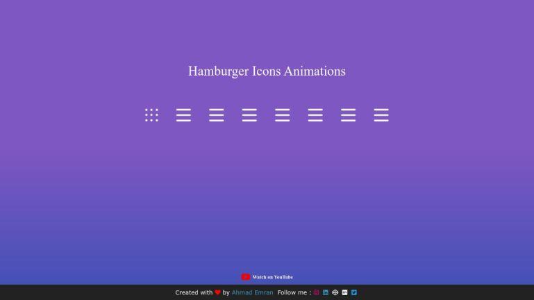 Hamburger Icons Animations