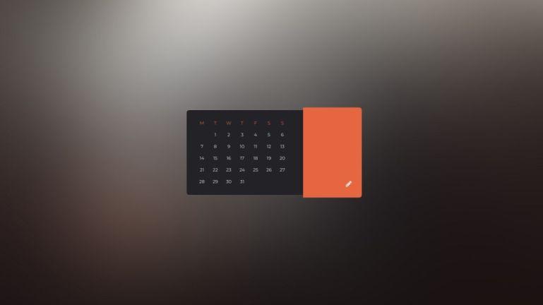 Javascript CSS based Parallax flipping calendar