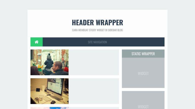 Cara Membuat Sticky Widget di Blog