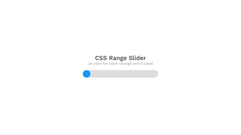 CSS Custom Range Slider