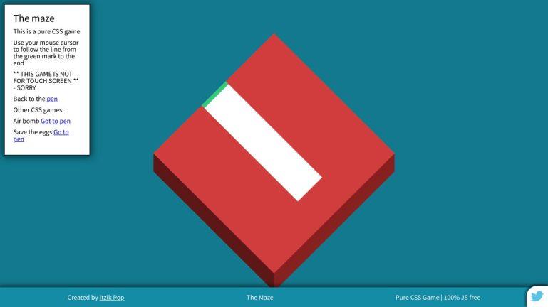 Maze (Grid) - Pure CSS Game - No JS