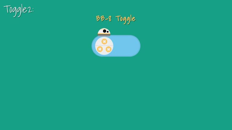 BB-8 Toggle Switch Pure CSS