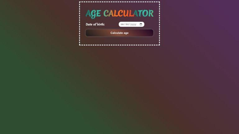 React Age Calculator