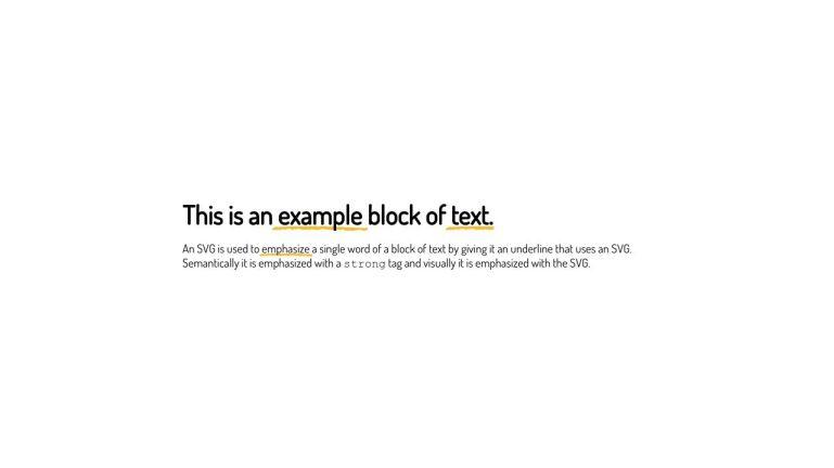 SVG Text Underline