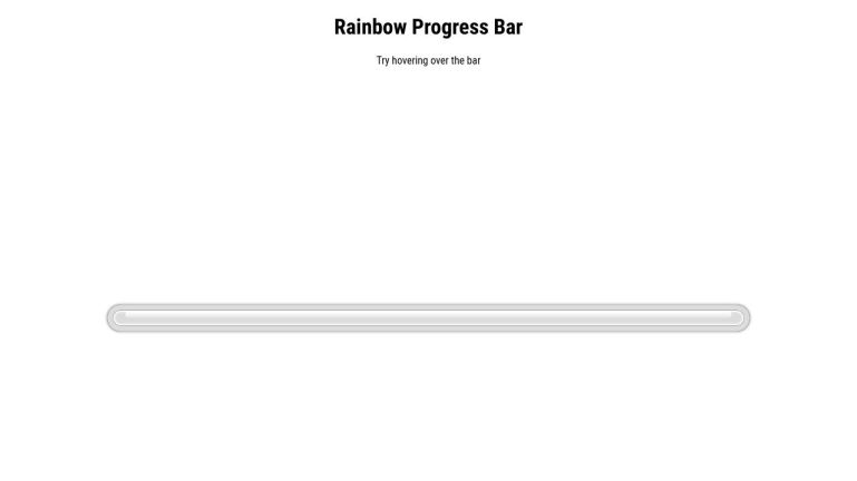 Rainbow Progress Bar