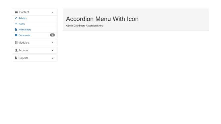 Accordion Menu With Icon