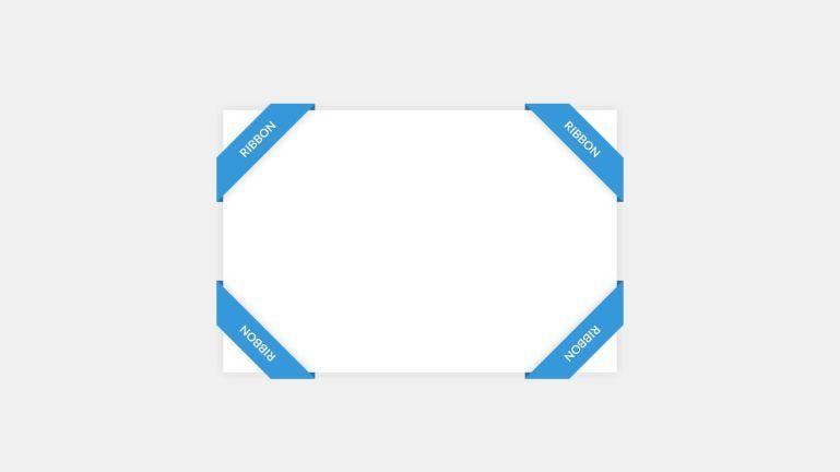 Pure CSS Corner Ribbon
