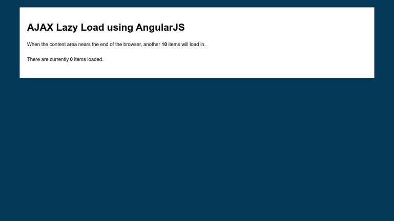 Ajax Lazy Load with AngularJS