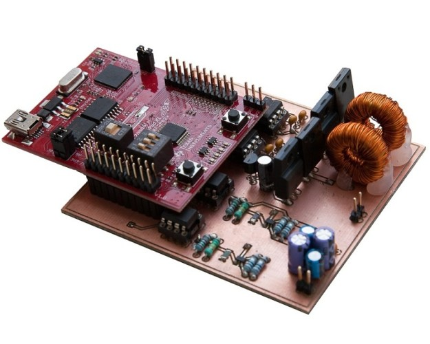 C2000 Solar MPPT Tutorial final prototype PCB