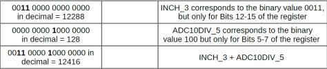 MSP430 Programming Tutorial ADC10CTL1 INCHx + ADC10DIVx