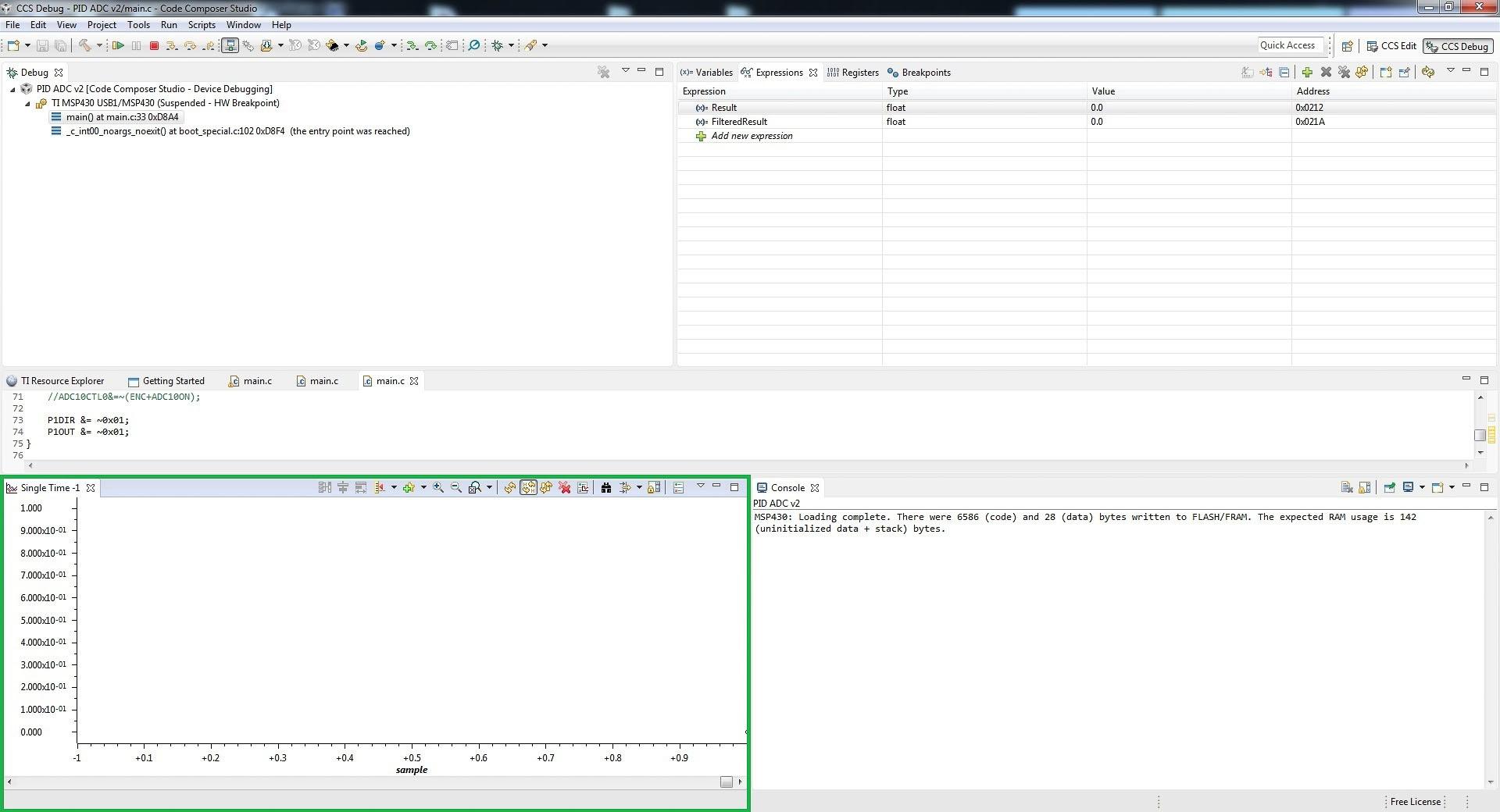 Code Composer Studio Graphing Tool Tutorial