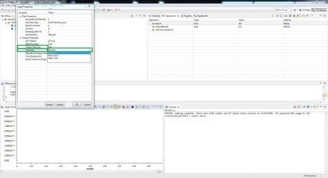 Code Composer Studio Graphing Tool Tutorial Tutorial Graph Properties MSP430 Tiva C C2000