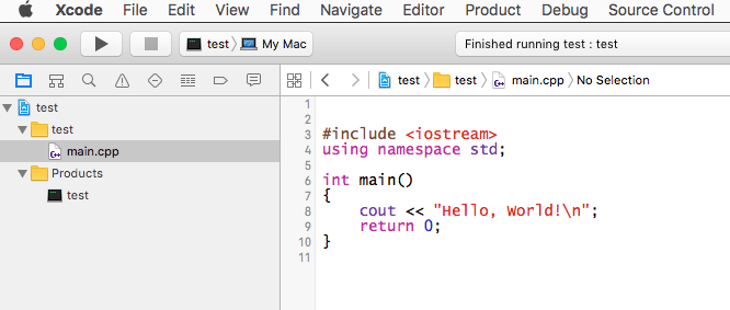 how to create a c language xcode file