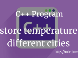 store temperature different cities