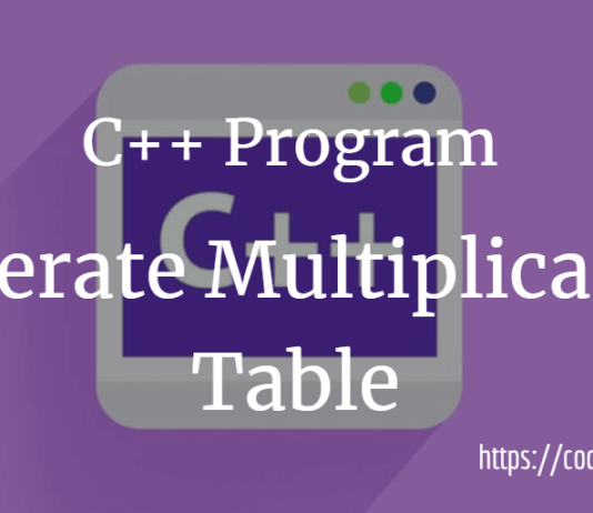 generate the multiplication table