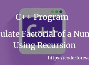 Calculate Factorial of a Number Using Recursion