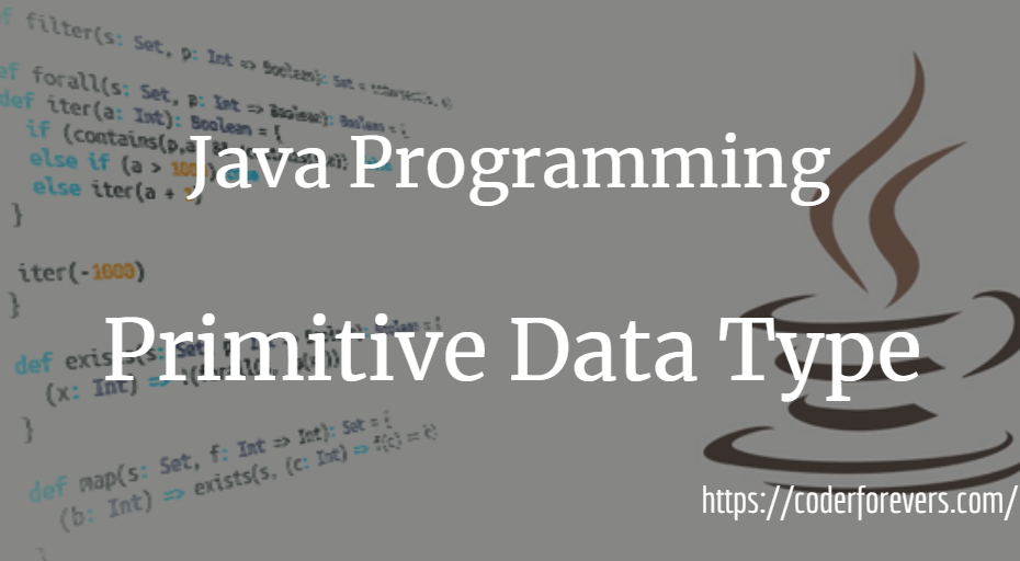 Java Primitive Data Type