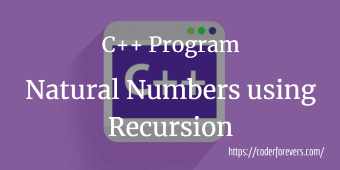 Natural Numbers using Recursion