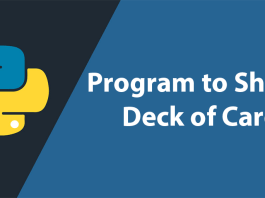 Program to Shuffle Deck of Cards in Python