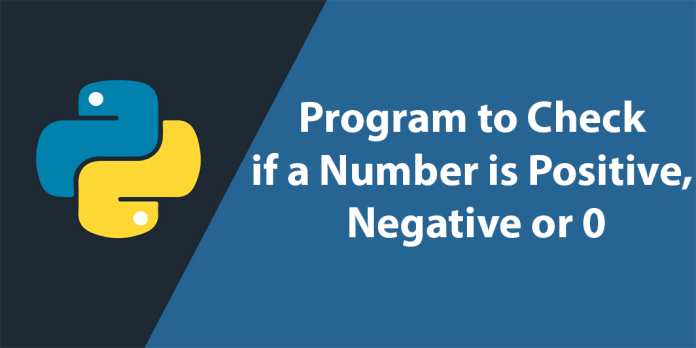 Program to Check if a Number is Positive, Negative or 0