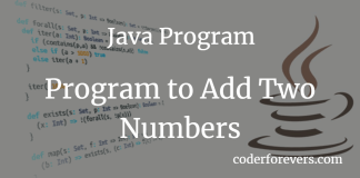 Program to add two numbers in Java