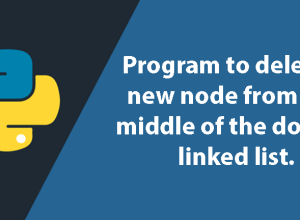 Python Program to delete a new node from the middle of the doubly linked list