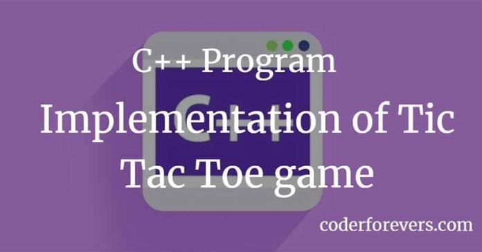 C++ Tic Tac Toe game
