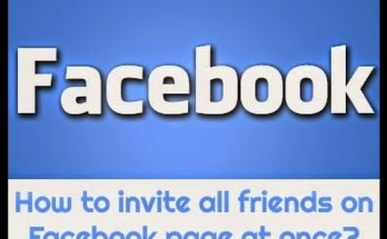 How to invite all friends to like Facebook page at one click
