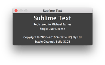 sublime text build 3126 Licence