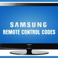 Remote Control Codes For Samsung TVs